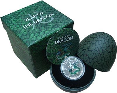 Изображение Подарочные наборы Ниуэ Год дракона 2012 Серебро Proof