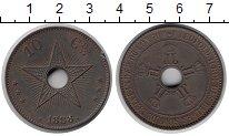 Изображение Монеты Бельгийское Конго 10 сантимов 1888 Медь XF Леопольд II.