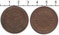 Изображение Монеты Уругвай 2 сентесимо 1869 Медь XF