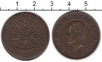 Изображение Монеты Гаити 20 сентим 1863 Медь VF