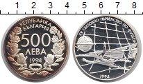 Изображение Монеты Болгария 500 лев 1994 Серебро Proof- ЧМ по футболу