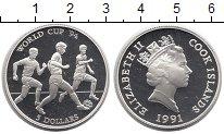 Изображение Монеты Острова Кука 5 долларов 1991 Серебро Proof- Елизавета II. Чемпио