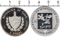 Изображение Монеты Куба 5 песо 1999 Серебро Proof-