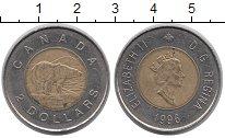 Изображение Монеты Канада 2 доллара 1996 Биметалл XF Елизавета II. Белый