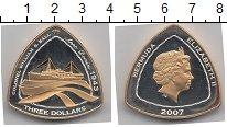 Изображение Монеты Бермудские острова 3 доллара 2006 Серебро Proof- Елизавета II. Парохо