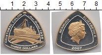 Изображение Монеты Бермудские острова 3 доллара 2007 Серебро Proof- Елизавета II. Парохо