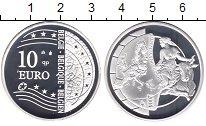 Изображение Монеты Бельгия 10 евро 2004 Серебро Proof Расширение Евросоюза