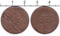 Изображение Монеты Дания Датская Индия 1 цент 1905 Бронза XF