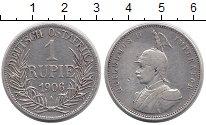 Изображение Монеты Немецкая Африка 1 рупия 1906 Серебро VF
