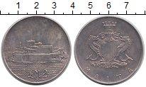 Изображение Монеты Мальта 2 фунта 1972 Серебро UNC- Форт Сан-Анжело