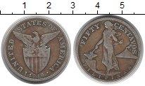 Изображение Монеты Филиппины 50 сентаво 1919 Серебро VF