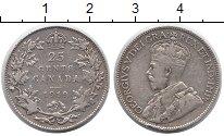 Изображение Монеты Канада 25 центов 1919 Серебро XF- Георг V