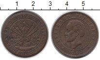 Изображение Монеты Гаити 20 сантимов 1863 Бронза XF-