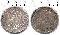 Изображение Монеты Баден 3 марки 1915 Серебро UNC-
