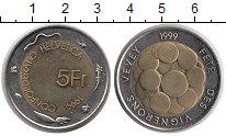 Изображение Монеты Швейцария 5 франков 1999 Биметалл UNC