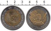 Изображение Монеты Швейцария 5 франков 2001 Биметалл UNC