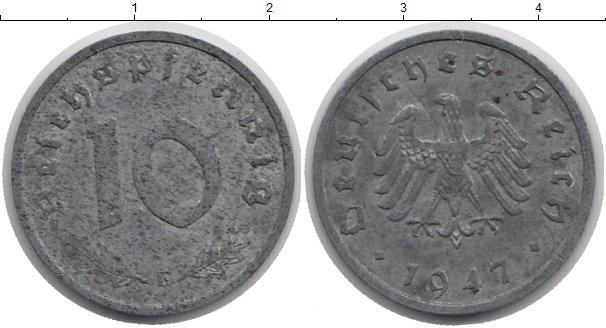 Картинка Монеты Германия 10 пфеннигов Цинк 1947