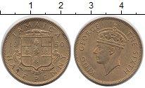 Изображение Монеты Ямайка 1/2 пенни 1950 Латунь XF