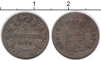 Изображение Монеты Германия Вюртемберг 1 крейцер 1850 Серебро XF
