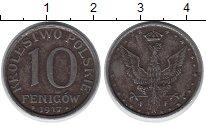 Изображение Монеты Польша 10 пфеннигов 1917 Железо VF Австро-немецкая окку