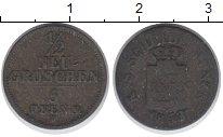 Изображение Монеты Саксония 5 пфеннигов 1853 Серебро VF Фридрих Август II.