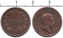 Изображение Монеты Германия Баден 1/2 крейцера 1830 Медь VF