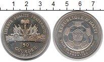Изображение Монеты Гаити 50 гурдес 1977 Серебро UNC- Чемпионат  мира  по