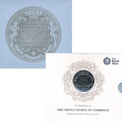 Изображение Подарочные наборы Великобритания Крещение принца Джорджа 2013 Медно-никель BUNC