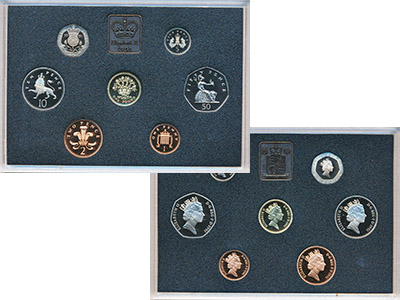 Изображение Подарочные монеты Великобритания Набор 1991 года 1991  Proof В наборе семь монет