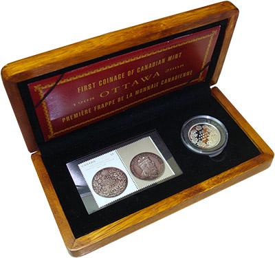 Изображение Подарочные монеты Канада 100 лет Королевскому канадскому монетному двору 2008 Серебро Proof