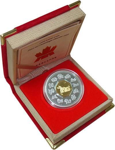 Изображение Подарочные монеты Канада 15 долларов 1999 Серебро Proof Монета номиналом 15