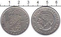 Изображение Монеты Швеция 2 кроны 1966 Серебро XF Густав VI Адольф