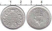 Изображение Монеты Индия 1/2 рупии 1943 Серебро XF