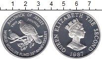 Изображение Монеты Остров Джерси 2 фунта 1987 Серебро Proof