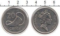 Изображение Монеты Фиджи 20 центов 1990 Медно-никель XF Елизавета II.