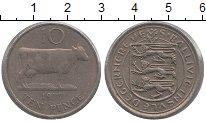 Изображение Монеты Гернси 10 пенсов 1977 Медно-никель XF Корова.