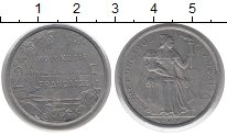 Изображение Монеты Полинезия 2 франка 1977 Алюминий XF