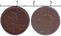 Изображение Монеты Турция 5 куруш 1960 Бронза XF