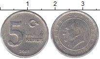 Изображение Монеты Турция 5 куруш 2005 Медно-никель XF