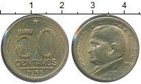 Изображение Монеты Бразилия 50 сентаво 1955 Латунь XF