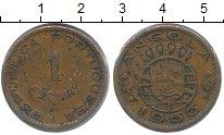 Изображение Монеты Ангола 1 эскудо 1953 Бронза VF Португальская колони