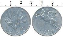 Изображение Монеты Италия 10 лир 1950 Алюминий XF
