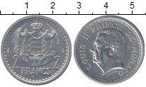 Изображение Монеты Монако 2 франка 1945 Алюминий XF