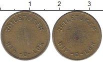 Изображение Монеты Великобритания жетон 0 Латунь XF