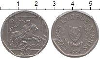 Изображение Монеты Кипр 50 центов 1993 Медно-никель XF
