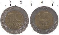 Изображение Монеты Финляндия 10 марок 1993 Биметалл XF
