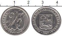 Изображение Монеты Венесуэла 25 сентимо 2007 Медно-никель UNC- Герб