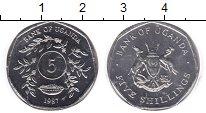 Изображение Монеты Уганда 5 шиллингов 1987 Медно-никель UNC-