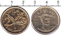 Изображение Монеты Свазиленд 2 эмалангени 2005 Латунь UNC- Цветы