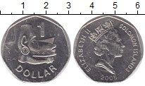 Изображение Монеты Соломоновы острова 1 доллар 2005 Медно-никель UNC-